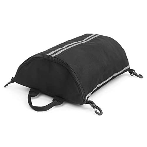 Lixada Kayak Deck Bag SUP Deck Zipperd Pouch with Swivel Snaphooks Kayak Dry Bag Deck Bag for SUPs and Kayaks, Black