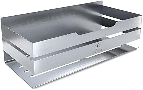 LAVERIS - Duschablage ohne Bohren - Edelstahl - garantierter Halt - Duschregal - rostfrei