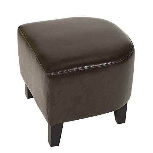 Home Equipment Change Shoes Stool Comfortable 48x44x40cm Footstool PU Bed End Stool Change Shoe Bench Sofa Stool Chaise Lounge Bench Seat Wooden Leg (Brown White) (Color : Brown Size : 48x44x40cm)