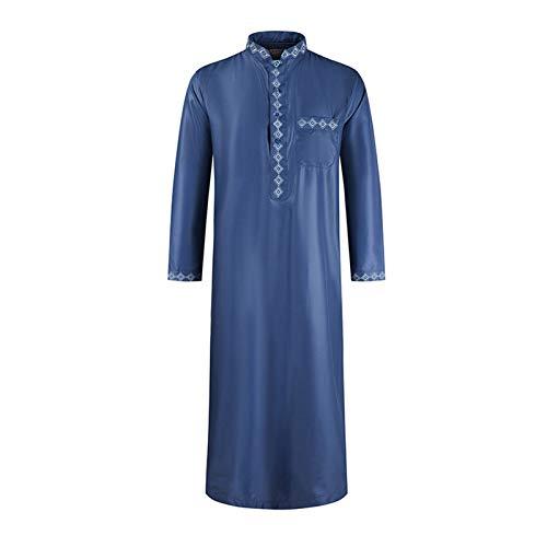 Haodasi Männer Muslimische Hemd Robe - Islamische Arabische Kaftan Nahost Jubba Thobe Dubai Türkische Ethnische Kleidung