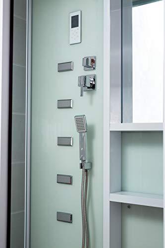 Home Deluxe White Luxory XL Duschtempel, inkl. Dampfsauna und komplettem Zubehör - 4