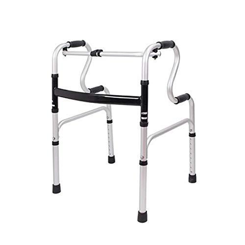 XCY Gehhilfe Medical Instruments Aluminiumlegierung Walker Gehen, Folding Trage 2 Casters Hilfs Walker, Multi-Style Optional,a