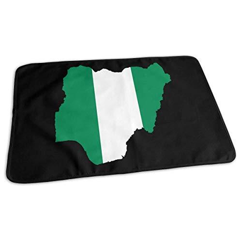 2018 Nigeriaanse vlag en kaart Baby Herbruikbare veranderen Pad Cover Draagbare reizen veranderen Mat 27.5x19.7 inch