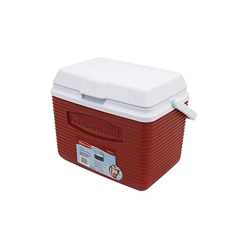 Coleman FlipLid Personal Cooler 5 Quarts Portable Ice Cooler Red