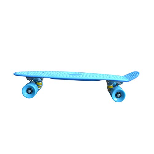 ACMOMO Skateboard Mini Cruiser Skateboard Cruiser Brett Kunststoff-Skateboard 22