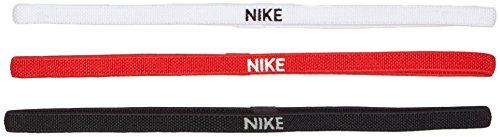 NIKE Banda para el cabello-9318-4 Cabello, Hombre, Black/White/University Red, One Size