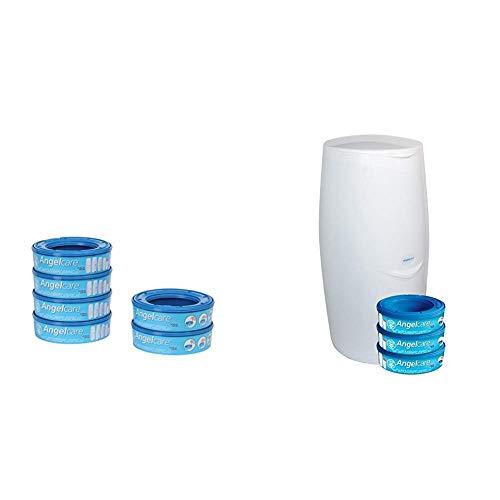 Foppapedretti Ricarica per Maialino, 6 Pezzi + Angelcare, sistema di smaltimento pannolini, blu
