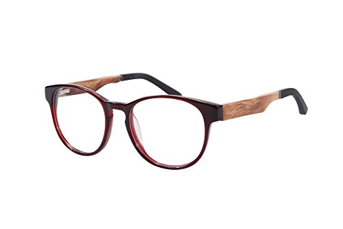 SHINU Progressive Multiple Fokus Lesebrille Multifokale Glaser Multifocal Computer Lesebrillen- ZF110 (wine red-red pear, up+1.00, down+2.50)