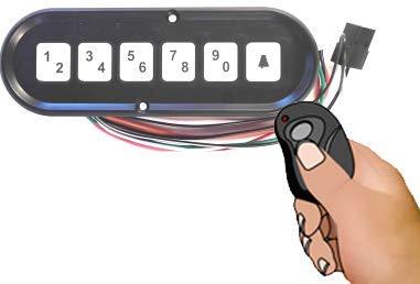 HD008-HW Hardwired keypad Horizontal Display for keyless Entry Lock for car, Truck, Service Body, Toolbox