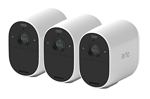 Arlo Essential Spotlight 3 Home Security Camera System CCTV, Wi-Fi, 1080p,...