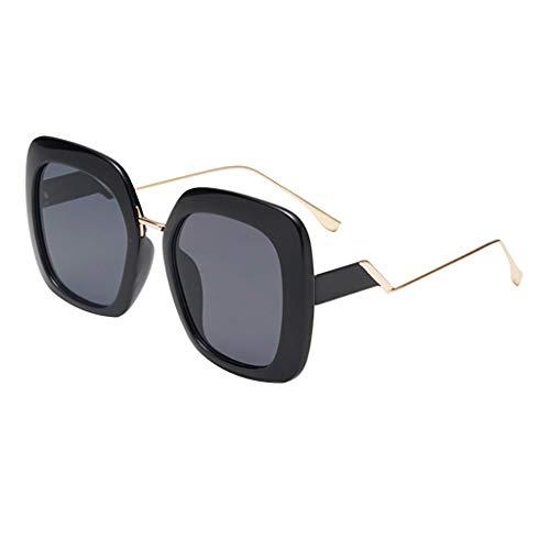 Gafas de sol retro Transwen, unisex, montura de metal, gafas de sol, gafas de sol, lentes de espejo, para mujeres y hombres