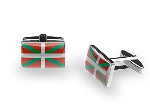 Cuffs 'N' Collars basque Ikurrina Boutons de manchette (avec boîte cadeau)