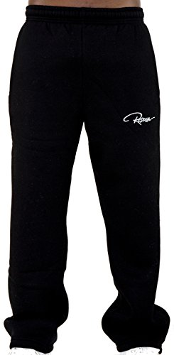 REDRUM Jogginghose Sweatpants Sport Fitness Casual - Modell Plain - in Schwarz Anthrazit Grau (XXXL, Schwarz)