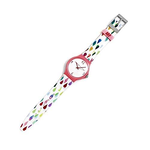 Agatha Ruiz de la Prada Reloj para Mujer Analógico Cuarzo japonés con Correa de Plástico AGR247G