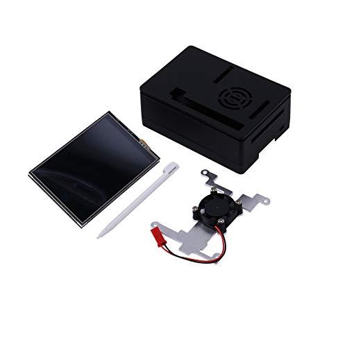 Jaimenalin Pantalla TáCtil, 3.5 Pulgadas 60 + Fps 480X320 ResolucióN HD con Ventilador de Enfriamiento y Estuche para Raspberry Pi 4 Modelo B/Pi 4B