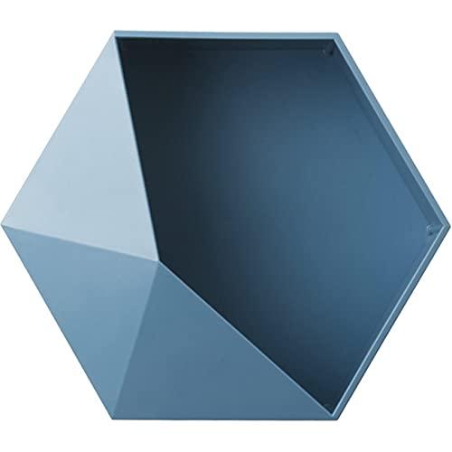 NancyMissY 幾何学的な棚北欧のリビングルーム壁に取り付けられた幾何学的なパンチのない壁の装飾浴室の棚六角形の収納ラック