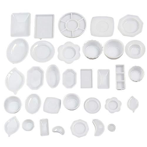 gzzebo 33pcs 1:12 casa delle Bambole in Miniatura Set da Cucina Mini stoviglie Carino Giocattoli di plastica da Cucina Pranzo