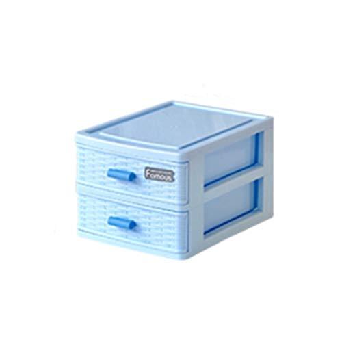 Boîte de rangement de bureau classification petits tiroirs papeterie boîte à bijoux outils pièces étiquette stockage stylo articles divers (Couleur : Bleu, taille : A)