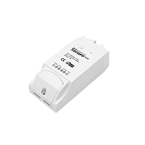 Sonoff TH16 Smart Wifi Switch 15A Interruptor de control remoto Herramienta de monitoreo de temperatura y humedad para domótica y (color: blanco)