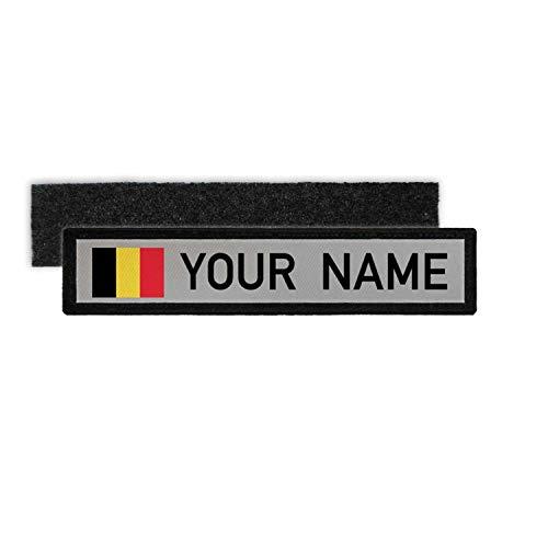 Copytec Namenspatch Belgien Belgium Flagge Patch naam Brussel Identität #25200