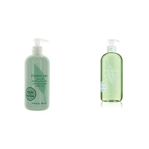 Elizabeth Arden Green Tea, Refreshing Body Lotion, 1er Pack (1 x 500 ml) & Green Tea Energizing Bath & Shower Gel, 500 ml