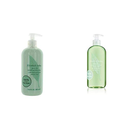 Elizabeth Arden Green Tea, Refreshing Body Lotion, 1er Pack (1 x 500 ml) & Green Tea Energizing Bath & Shower Gel, 500 ml