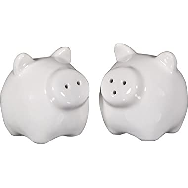 Set Of 2 Pig Salt & Pepper Shaker In Craft Gift Box