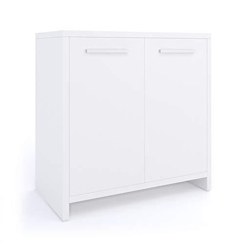 Vicco Mobile sottolavabo Kiko Armadietto per lavandino bianco