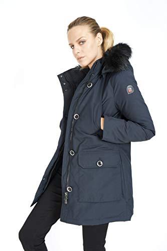 Charlotte - Fox para Mujer Parka - Abrigo Chaqueta de Piel sintética Chaqueta de Invierno Chaqueta con Capucha (44)