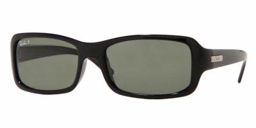 Ray-Ban RB 4107-601/58 - Gafas de sol con lentes polarizadas, 56 mm, color negro brillante