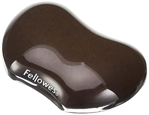 Fellowes Gel Crystals - Reposamuñecas flexible ergonómico, color negro