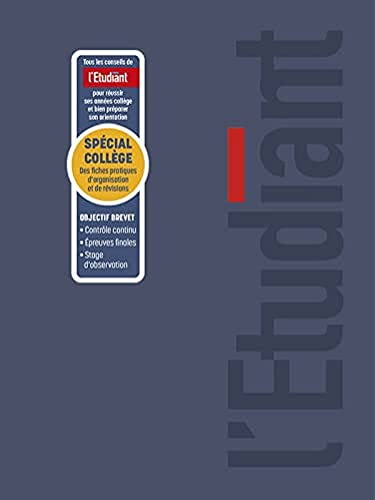 LETUDIANT Special Collège Agenda Scolaire Aout 2021 - Août 2022 Journalier Format 15x20cm Couverture PVC Ouatinée Bleue