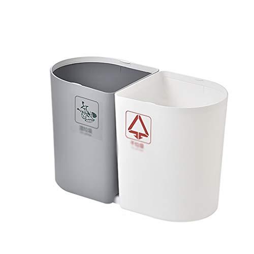 Poubelle Ménage Trash Can, Sec Cuisine et Classification Humide Poubelle, Salon Salle de Bain Bureau sans Couverture Poubelle Bacs à déchets (Color : A)