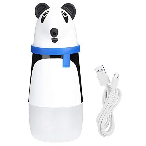 FILFEEL Dispensador de jabón con Sensor de Espuma Uniforme, dispensador infrarrojo Inteligente de Dibujos Animados Bonitos, Manos Libres, Seguro y Saludable, baño, Inodoro, Cocina para Uso doméstico