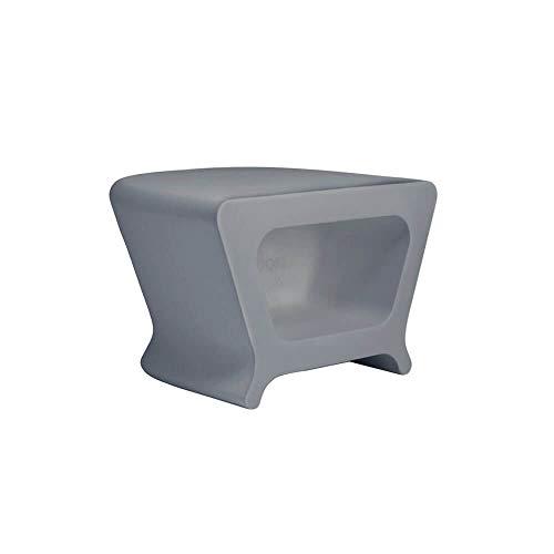Vondom Pal Bijzettafel/kruk voor buiten grijs aluminium
