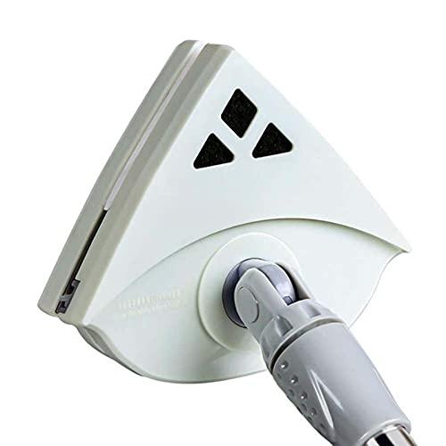 Limpiador de limpiacristales magnético de doble cara Fuerza magnética ajustable para ventanas de doble acristalamiento Espesor Limpiador de ventanas magnético Limpiacristales -Light green gray rod