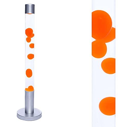 Cilindro Lámpara de lava XXL ALAN Cera Naranja Líquido 76cm de altura Lámpara de pie Salón Dormitorio adolescente