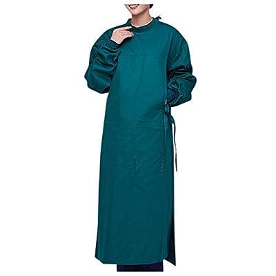 TOTAMALA Unisex Surgical Gown Healthcare Tunic Hospitality Nurses Carers Therapist Dentist Uniform for Men Women (S, Green)