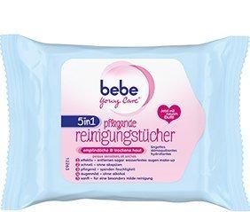Bebe Young Care Reinigungstücher empfindliche Haut 5in1 5 Packungen (5x 25 Tücher)