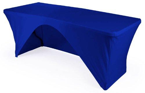 LA Linen Mantel Rectangular con Parte Trasera Abierta, Microfibra, poliéster, Elastano, Color Azul Real, 243,8 x 76,2 x 76,2 cm