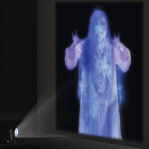 NNGT Decoración de Halloween, Pantalla de Proyección Trasera de Tela para Videos Virtuales de Proyección de Ventana de Halloween Y Navidad