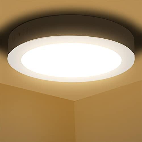 Aigostar Deckenlampe led 12W 3000K Deckenleuchte, 940lm lampen decke ideal für Badezimmer Balkon Flur Küche Wohnzimmer, Warmweiß Badezimmerlampe Ø17.4cm [Energieklasse A+]
