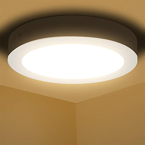 Aigostar Downlight Panel Superficie LED Circular Redonda 12W 940LM Plafon Redondo Para techo y Pared Color luz calida 3000K 174 * 35Hmm [Clase de eficiencia energética A+]
