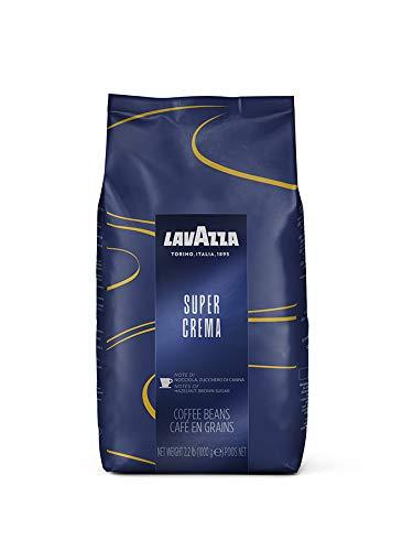 Lavazza Super Crema Whole Bean Coffee Blend, Medium Espresso Roast, 2.2 Pound (Pack of 6)