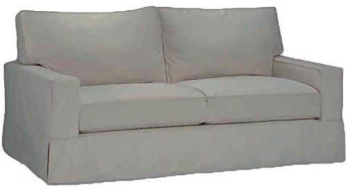 The Cotton Sofa Cover Only Fits Pottery Barn PB Comfort Square Arm Sofa. A Durable Slipcover Replacement (Square Arm Box Edge)