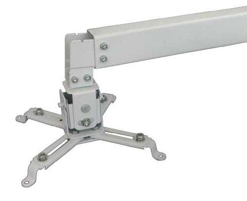 Electronic-Star PRB-2W - Beamer Halterung, Universal-Projektor-Deckenhalterung, Beamer-Wandhalterung, neigbar, 20 kg max, verdeckte Kabelführung, Stahlkonstruktion, weiß