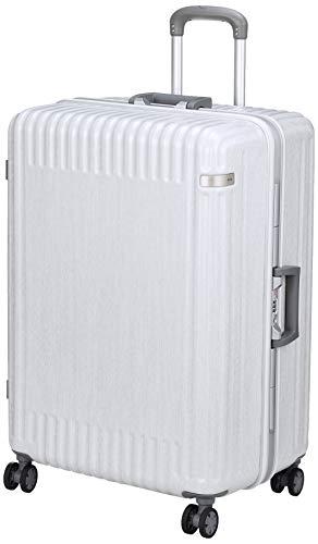 [エース トーキョー] スーツケース パリセイド2-F ケースカバー付 93L 5.1kg ヘアラインホワイト