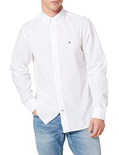 Tommy Hilfiger Breeze Cotton Shirt Camicia, Bianca, M Uomo