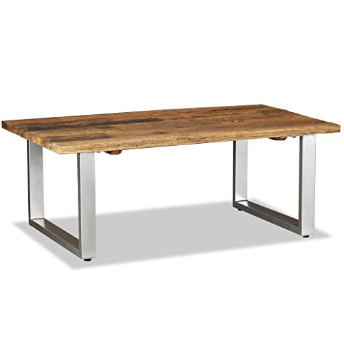 Zora Walter Rectangle Couchtisch Recyceltes Bahnschwellen-Holz Massiv Dining Room Table/Sofatisch Beistelltisch Wohnzimmertisch,Szie:100x60x38 cm
