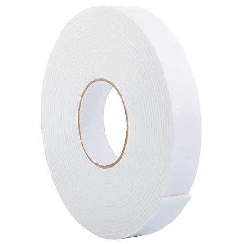 Double Sided White PE Foam Tape-Outdoor and Indoor Heavy Duty Strong Weatherproof Adhesive Tape for Decorative and Trim,Car & Gap Filling Mountings,Home Decor, Office Decor(33 Ft Long,Wide 1.18 in)